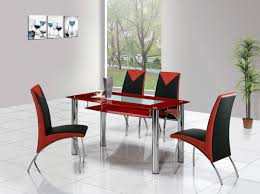 black and red kitchen table chairs tables design glass dining set island throughout size x