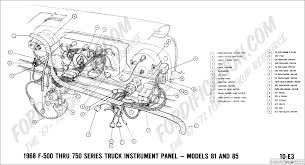 ford truck technical drawings and schematics section h wiring 1968 f 500 thru f 750 instrument panel