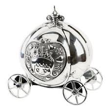 image is loading silver plated cinderella carriage coach money box new