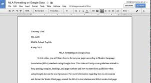 Mla Formayt Mla Formatting On Google Docs