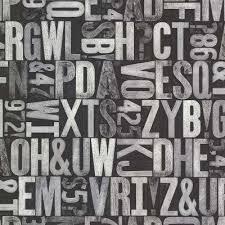 great scott black alphabet wallpaper
