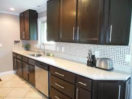 kitchens with dark cabinets and light countertops. Kitchen Black Laminated Wooden Wall Mounted Cabinet Stainless Steel Curved Faucet Counter Island Book Storage Dark Kitchens With Cabinets And Light Countertops S