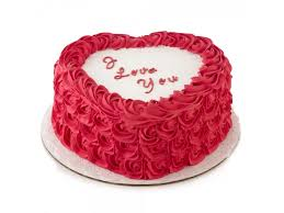 rose heart shape cake in sharjah
