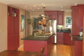Kitchen Cabinets Painted Red Modern Kitchen Colors Digsigns Kitchen With Red Appliances