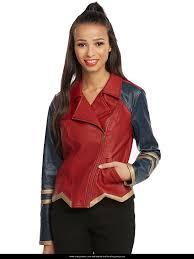 wonder woman diana prince costume leather jacket
