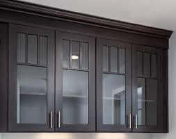 black mission style cabinets with mullion doors and gl inserts