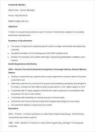 Automotive Resume Sample Auto Mechanic Template Technician Tech