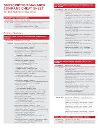 linux cheat sheet subscription manager command cheat sheet for red hat enterprise linux