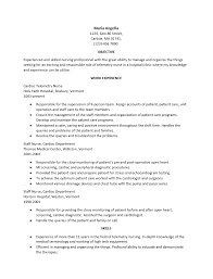 Sample resume cardiac nurse