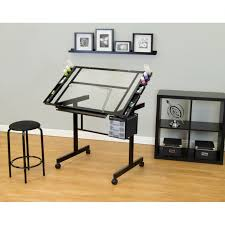 large glass office desk. glass office desk ideas using rectangular transparent drafting with black metal base and large t