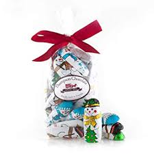 Amazon Com Christmas Chocolate Snowman Wrapped In Colorful