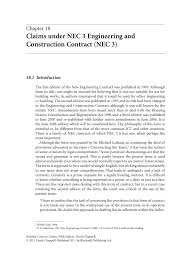 Chaptr E 18 Claims Under Nec 3 E Ngineering And C Pages