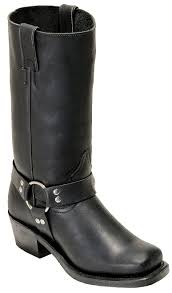 boulet las motorcycle boots leather dogger everest black 2064