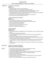 Audio Engineer Resume Sample Audio Engineer Resume Samples Velvet Jobs 11