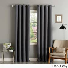 curtains panels beautiful patio panel curtains new aurora home silver grommet top thermal