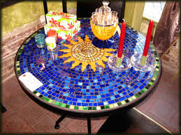 Outdoor Tile Table Top Compact Mosaic Outdoor Dining Table 36 Mosaic Tile Outdoor Dining