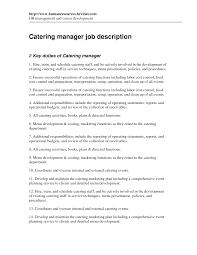 Catering Job Description For Resume Resume Cv Cover Letter