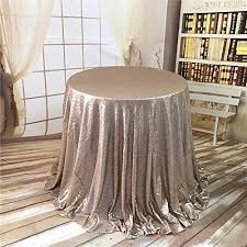 trlyc 108 inch round wedding sequin tablecloth for wedding happy new year champagne