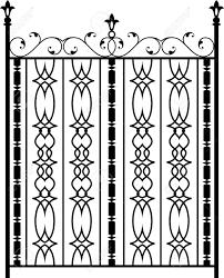 Wrought Iron Designs Wrought Iron Gate Ornamental Design Vector Illustration