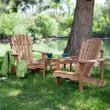 hampton deluxe oak adirondack chair set