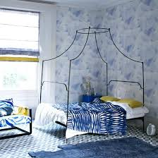 blue yellow bedroom blue bedroom with yellow accents and painterly wallpaper navy blue and yellow decorating ideas