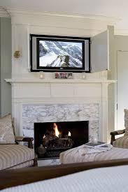 hide tv furniture. Hide TV Closed Cabinet Above Your Fireplace Tv Furniture