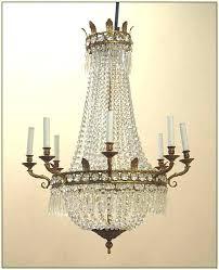 french empire crystal chandelier semi flush bronze lighting h30