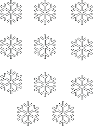 Printable Snowflake Template Paper Templates Pattern Flower
