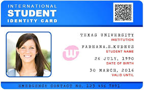 Id Card Template Student Cards For Company Identity Sample Format