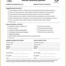 Business Partnership Contract Template Free Best Partnership ...