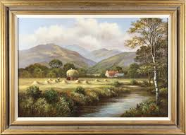 Wendy Reeves, Original oil painting on canvas, Highland Harvest 30x20ins,  Art Ref:WDR2630