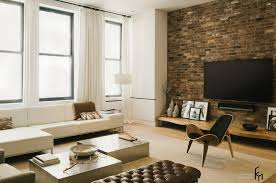 the brick living room furniture. beautiful brick a brown natural brick idea for modern living room with white low sofa and  astounding home throughout the furniture i