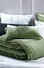 rich forest green velvet comforter and cushion also available eurocases in plain velvet with pleated