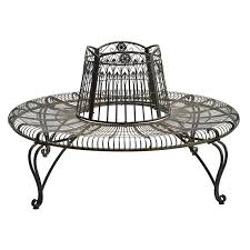 marquee rustic iron tree surround bench i n 3191362 bunnings warehouse