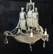 crystal ship chandelier pirate early iron and tole for horchow
