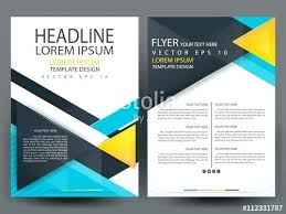 Template Leaflet Design Templates Vector Free Download Brochures