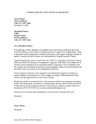 Letter Of Reference Who To Ask Valid Free Reference Request Letter