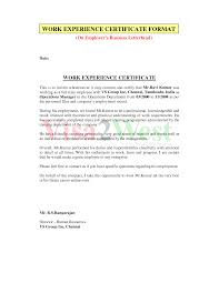 How To Write A Work Experience Letter For Employee Cover Letter