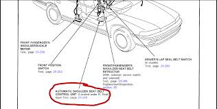 honda accord ex wiring diagram left front mechanism buckle up graphic