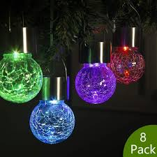 Gigalumi Hanging Solar Lights Gigalumi 8 Pack Hanging Solar Lights Multi Color Changing