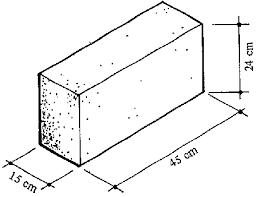 size of a brick 4 2 house with pumice concrete solid block brick walls