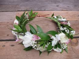 bridal flower crown with lisianthus alestroemeria italian ruscus dried lavender baby s breath