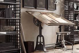 home office furniture indianapolis industrial furniture. 1. 1910 American Trestle Drafting Table From Restoration Hardware Home Office Furniture Indianapolis Industrial I