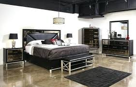 Jeromes Bedroom Sets The Modern Set Featuring Tinted Beveled Mirrors ...