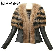 faux leather jacket high collar s nibesser new women coats 2017 autumn winter high street