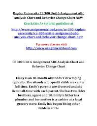 Abc And Number Chart Kaplan University Ce 300 Unit 6 Assignment Abc Analysis