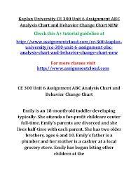 Kaplan University Ce 300 Unit 6 Assignment Abc Analysis