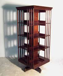 A Square rotating bookcase, without plans, but I like the bars, gives it