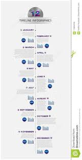 Year Timeline Vector Business Timeline Of The Year Template For Presentation Stock