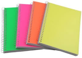 Printofine India A4 Notebook Spiral Notebooks Multicolor Pack Of 5